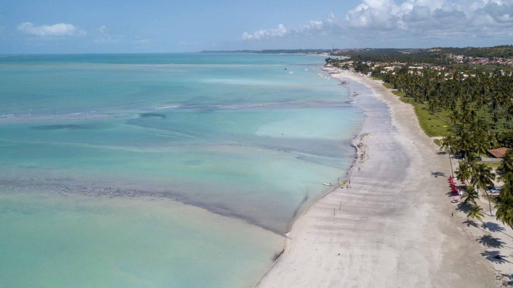 Praia de Antunes, localizada em Maragogi Alagoas