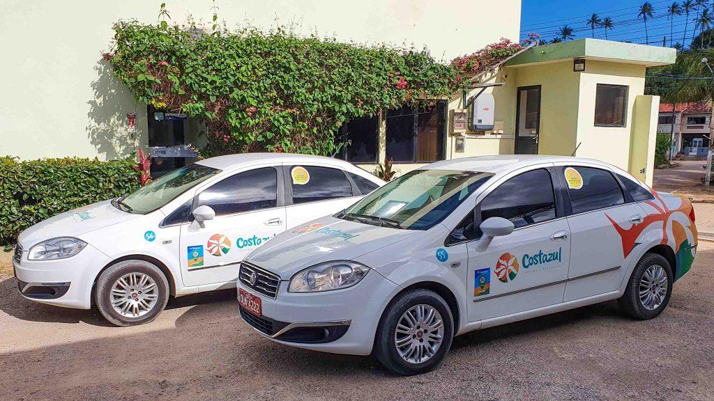Veículos da empresa Costazul Turismo